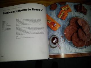 Page du livre de la recette des cookies au pépite de Reese's