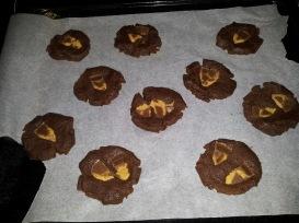 Cookies aux Reese's avant cuisson
