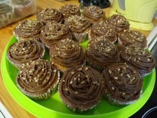 Cupcakes poire chocolat prêt à être dévoré