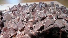 Pépite de chocolat maison pour les financiers chocolat noisette