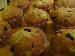 Muffins poire chocolat une fois cuit