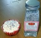 Cupcake de Noël vermicelle argent