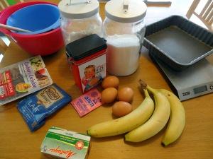 Ingrédients brownie chocolat banane