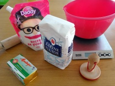 Ingrédients pour les shortbread