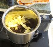 Brownie chocolat beurre de cacahuète bain marie beurre et chocolat