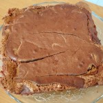 Brownie chocolat beurre de cacahuète démoulé
