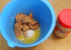 Brownie chocolat beurre de cacahuète garniture beurre de cacahuète préparation