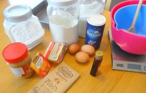 Brownie chocolat beurre de cacahuète ingrédients