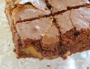 Brownie chocolat beurre de cacahuète une part