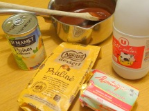 Macaron poire praliné ingrédients ganache