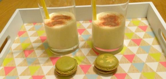 Macaron poire praliné milk shake profil