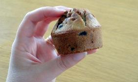 Muffin myrtille pignon de pin pamplemousse