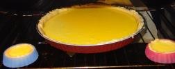 Tarte au citron meringué dans le four