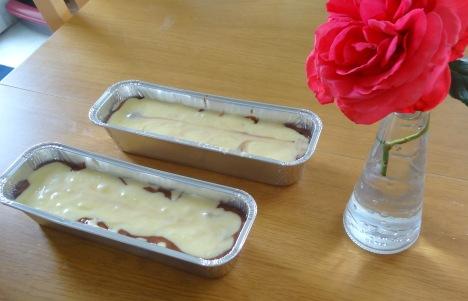 Marbré au chocolat yaourt et citron pas cuit