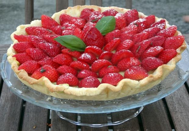 Tarte aux fraises et basilic exterieur profil 2
