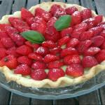 Tarte aux fraises et au basilic