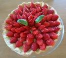 Tarte aux fraises et basilic fraises avec basilic