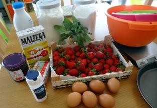 Tarte aux fraises et basilic ingrédients