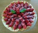 Tarte aux fraises et basilic sucre glace