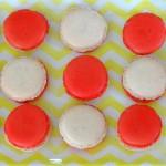 Macaron chocolat blanc et cerise