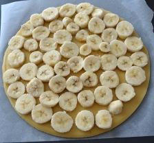 Tarte à la banane et au chocolat banane cru
