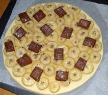 Tarte à la banane et au chocolat mi-cuite