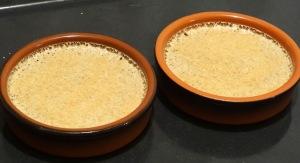 Creme brulee nutella avec cassonade avant passage au four